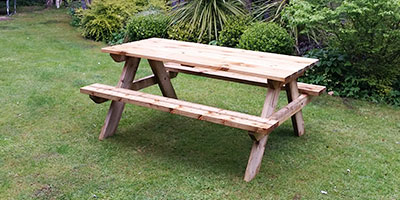 Picnic bench built by Adhoc Handyman York