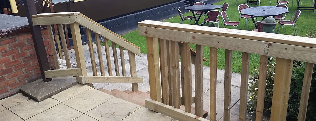 Safety Fencing and Sleeper Steps for Local Restaurant