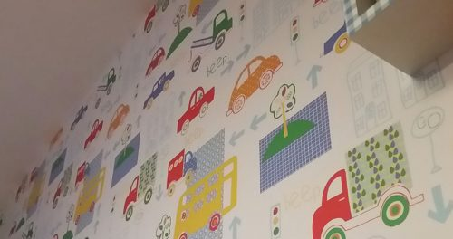 Children's Patterned Wallpapering