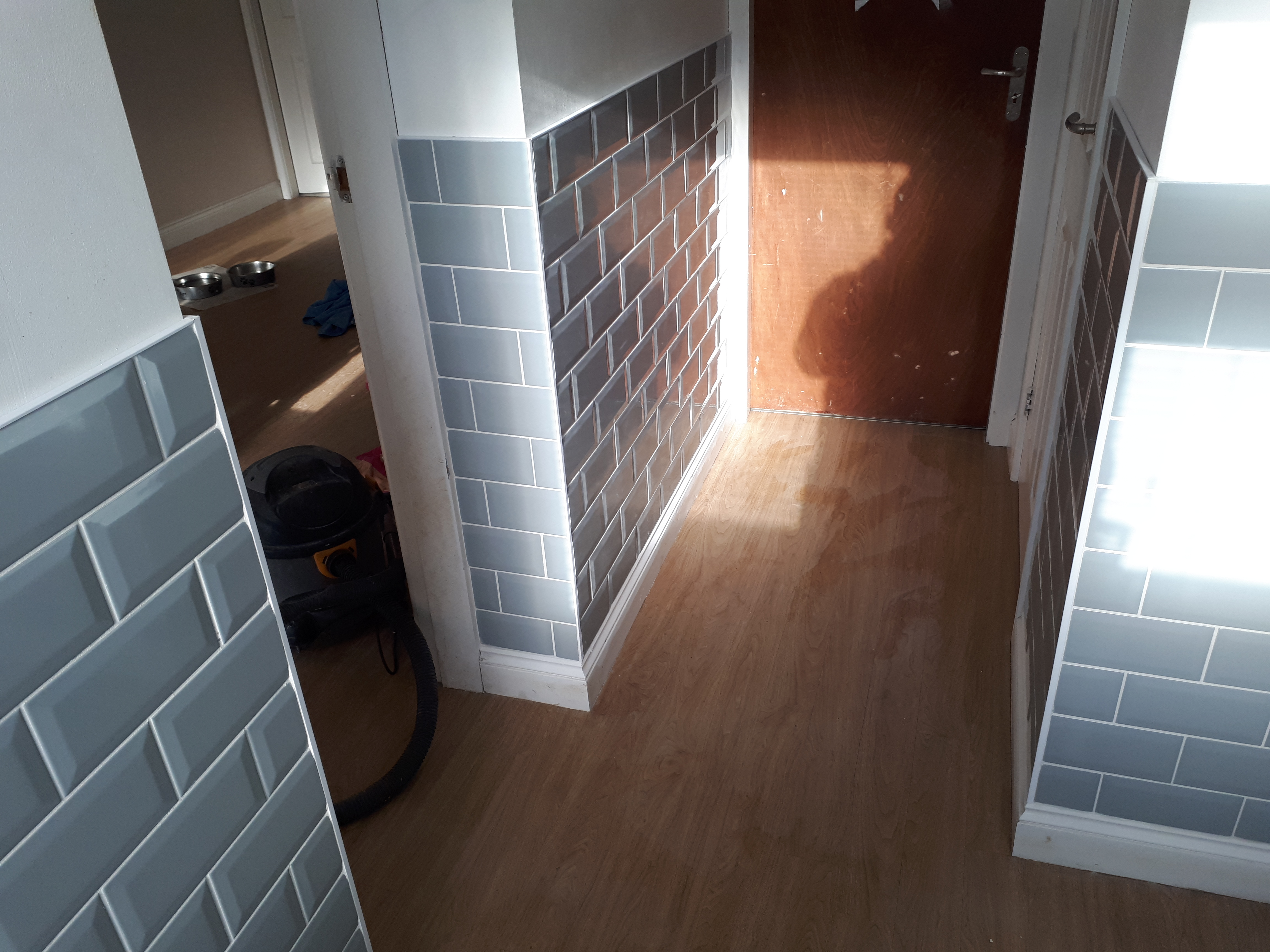 Tiling Utility Room with Subway Tiles